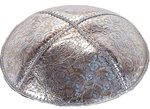 Bulk Leather Foil Embossed Kippot (FL116) - With Custom Imprinting