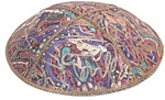 Bulk Leather Foil Embossed Kippot (FL118) - No Imprinting