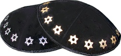 Bulk Suede Foil Embossed Kippot (SD98) - With Custom Imprinting