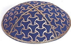 Bulk Suede Foil Embossed Kippot (GL72) - With Custom Imprinting