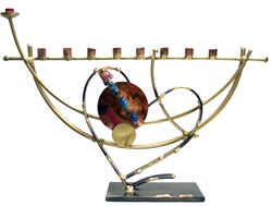Yuri Koretsky Menorah with Glass