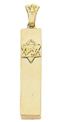 Mezuzah Star Square
