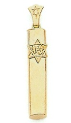 Mezuzah Tube Gold Star
