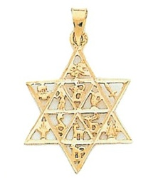 Twelve Tribes Star Pendant