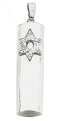 Mezuzah Tube with Star Pendant