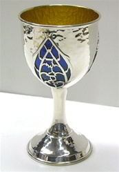 Hammered Sterling Kiddush Cup
