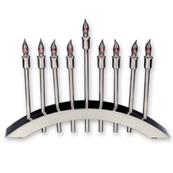 Stainless Steel Electric Menorah