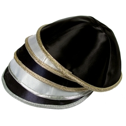 Satin Kippah with Trim