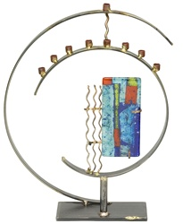 Art Deco Circle Menorah