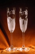 Paired Wedding Flutes