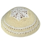 Women's Knit Kippah - White