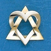 Star of David Pendant with Heart