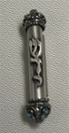 Pewter Car Mezuzah with Antique Design