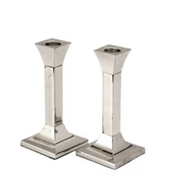 Square Silverplated Candlesticks