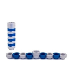 Traveling Doughnuts Menorah by Avia Agayof - Blue/Silver