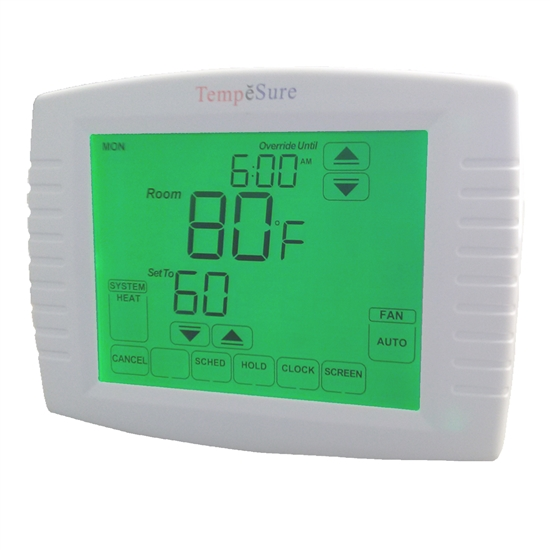 TEMPESURE 3H/2C PROGRAMMABLE TOUCHSCREEN THERMOSTAT, TESPT32