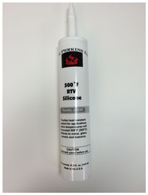 AW Perkins 500 Degree RTV Translucent Silicone Sealant #66