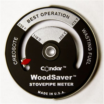 Condar WoodSaver Stovepipe Thermometer 3-16