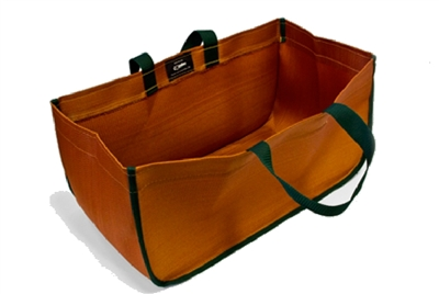 Condar Premium Tote Basket 9-13 Brown w/ Green Trim