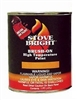 Stove Bright 1200 F degree Stove Paint Brush On - Metalic Black