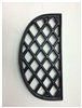 John Wright Black Matte Lattice Half Trivet 033355