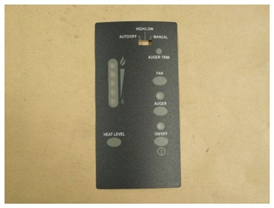 Enviro Control Panel Decal W/T/Stat switch 50-1476