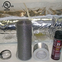 "6"" X 25' Insulation Kit Wrap, Mesh, Glue, Clamp, Tape"