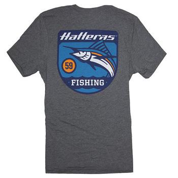 Banner Fishing Tee - Grey Triblend