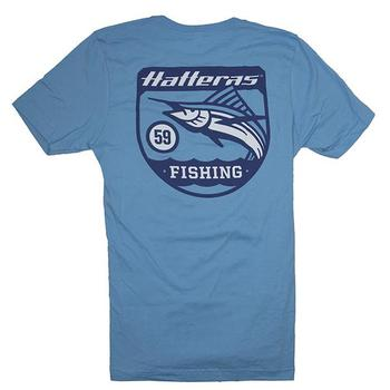 Banner Fishing Tee - Ocean Blue