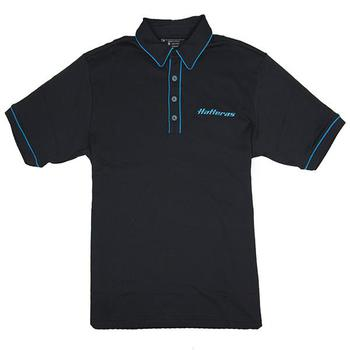 Pima Performer Polo - Black / Gulf Blue