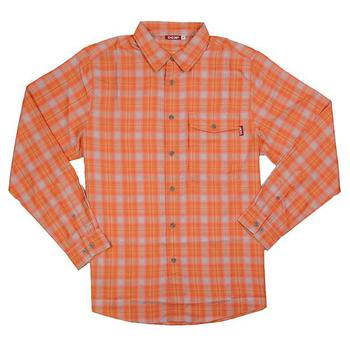 Deep L/S Performance Plaid Shirt - Orange