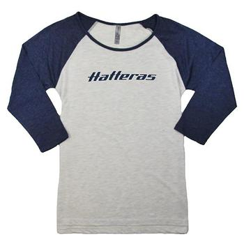 Ladies 3/4 Sleeve Raglan - Oatmeal / Navy