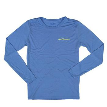 Ladies Long Sleeve Offshore Tee - Carolina Blue