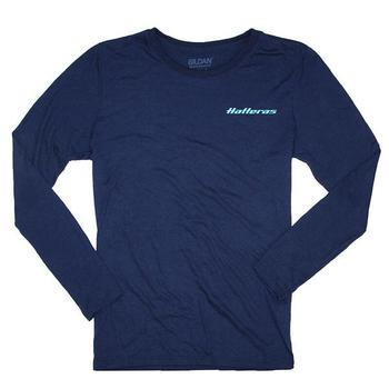 Ladies Long Sleeve Offshore Tee - Navy