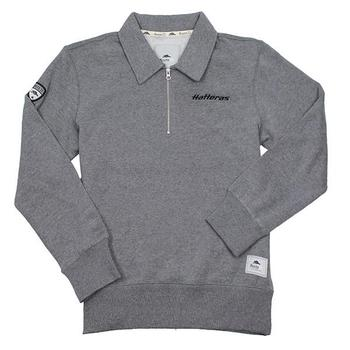 Roots73 Killarney 1/4 Zip Fleece - Light Charcoal