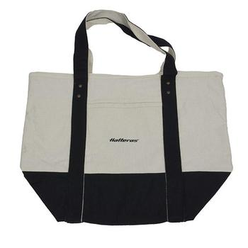 Seaside Zippered Tote - Stone / Black