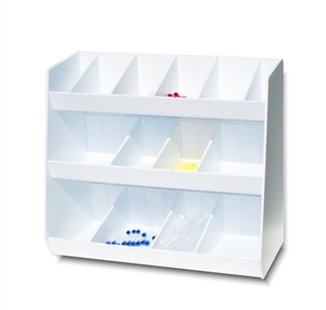 Adjustable Storage with Fourteen Bins