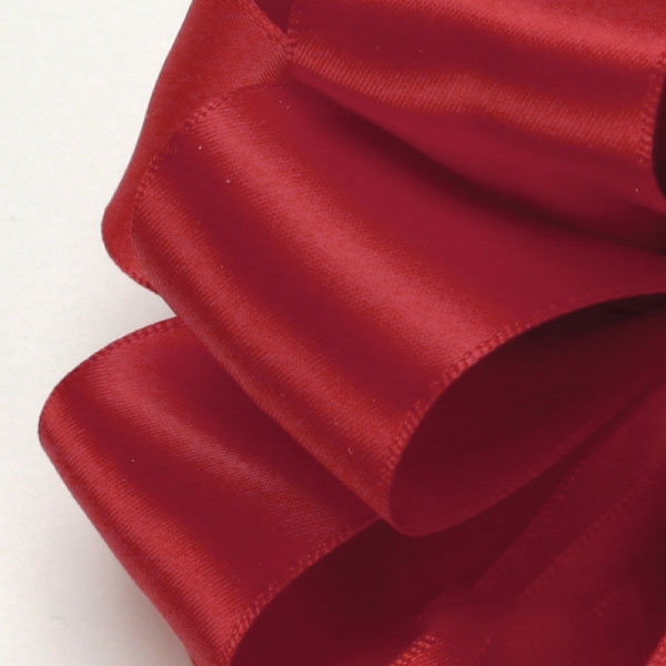 250 Red Offray Satin Ribbon Single Face 100 Yds 5 Widths