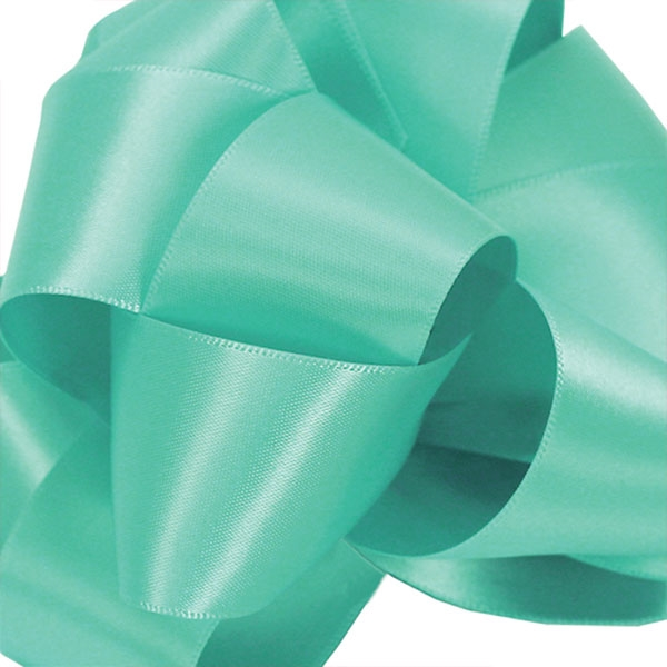 Single Face Satin Ribbbon Offray 315 Navajo Turquoise 5 Widths