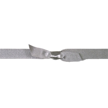 "7/16"" Stretch Satin Loops Silver"