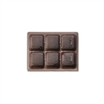 1/4 lb. Plastic Tray Insert - Brown-Fits 6 Chocolates
