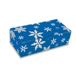 1 lb. Fudge Boxes-Blue  Snowflakes