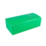 1 lb. Holiday Greetings on Kelly Green Chocolate Boxes