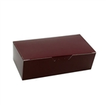 1 lb. Burgundy Rectangle-Fudge Boxes
