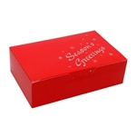 1-1/2 lb. Red Season's Greetings Chocolate Boxes