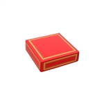 Chocolate Box Covers-3 oz.-1 Layer-Red with Gold Trim