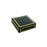 Chocolate Box Covers-3 oz.-1 Layer-Black with Gold Metallic trim