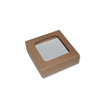 Chocolate Box Covers-3 oz.-1 Layer-Square Window Kraft