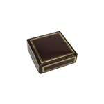 Chocolate Box Covers-3 oz.-1 Layer-Brown with Gold Trim