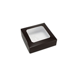 Chocolate Box Covers-3 oz.-1 Layer-Square Window Brown